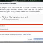 Changer adresse de page facebook